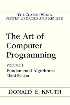 The Art of Computer Programming, Vol. 1 book cover