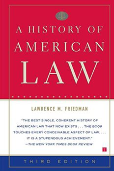 A History of American Law book cover