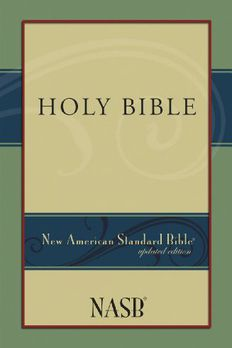 New American Standard Bible book cover