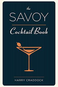 The Savoy Cocktail Book book cover
