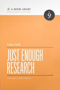 Just Enough Research book cover