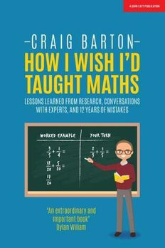 How I Wish I'd Taught Maths book cover
