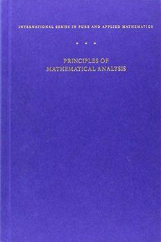Principles of Mathematical Analysis book cover