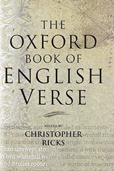 The Oxford Book of English Verse book cover