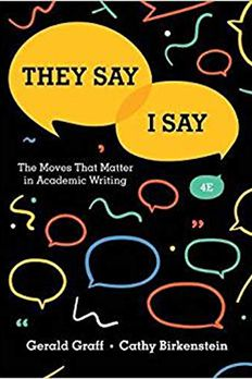 They Say / I Say book cover