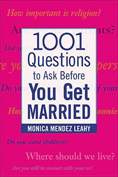 1001 Questions to Ask Before You Get Married book cover