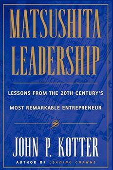 Matsushita Leadership book cover