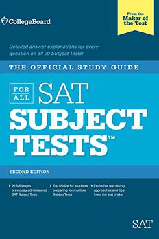 The Official Study Guide for ALL SAT Subject Tests book cover