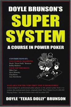 Doyle Brunson's Super System book cover