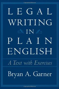 Legal Writing in Plain English book cover