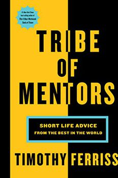Tribe of Mentors book cover