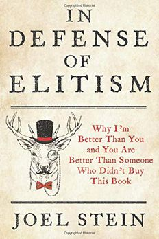 In Defense of Elitism book cover
