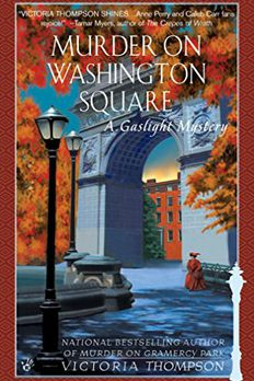 Murder on Washington Square book cover