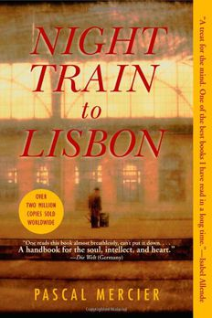 Night Train to Lisbon book cover