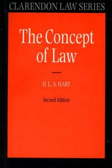 The Concept of Law2ndedition by H. L. A. Hart,P. Bulloch,J. Raz book cover