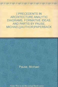 Precedents in Architecture  book cover
