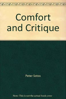 Comfort And Critique book cover