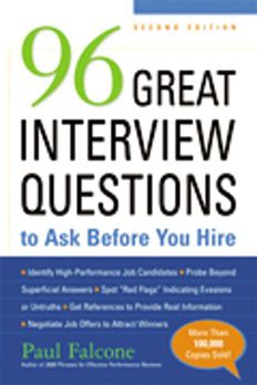 96 Great Interview Questions to Ask Before You Hire book cover