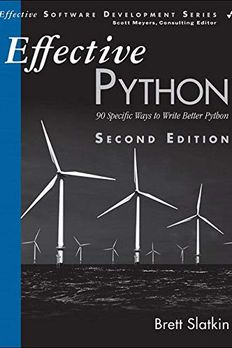 Effective Python book cover