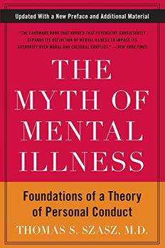 The Myth of Mental Illness book cover