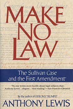 Make No Law book cover