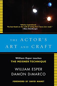 The Actor's Art and Craft book cover