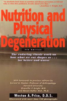 Nutrition and Physical Degeneration book cover