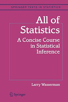 All of Statistics book cover