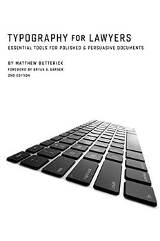 Typography for Lawyers 2nd book cover