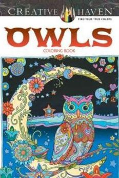 Creative Haven Owls Coloring Book book cover