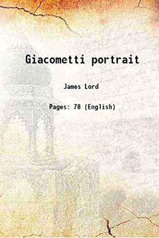 Giacometti portrait [Hardcover] book cover