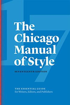The Chicago Manual of Style book cover