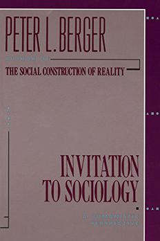 Invitation to Sociology book cover