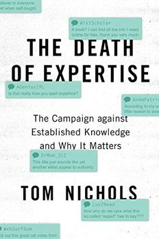 The Death of Expertise book cover