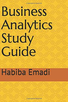 Business Analytics  Study Guide book cover