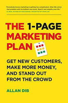 The 1-Page Marketing Plan book cover