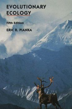Evolutionary Ecology by Eric R. Pianka book cover