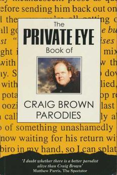 """Private Eye"" Book of Craig Brown Parodies book cover"