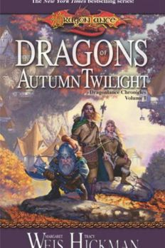 DRAGONS OF AUTUMN TWILIGHT [Dragons of Autumn Twilight ] BY Weis, MargaretMass Market Paperbound 01-Feb-2000 book cover