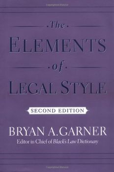 The Elements of Legal Style book cover