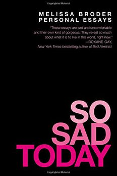 So Sad Today book cover