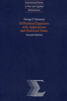 Differential Equations with Applications and Historical Notes book cover