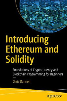 Introducing Ethereum and Solidity book cover