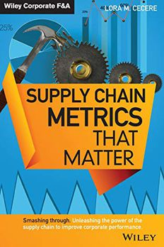 Supply Chain Metrics that Matter book cover