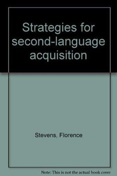 Strategies for second-language acquisition book cover