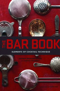 The Bar Book book cover