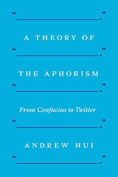 A Theory of the Aphorism book cover