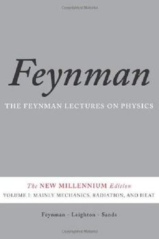 The Feynman Lectures on Physics, Vol. I book cover