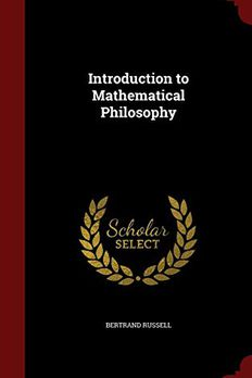 Introduction to Mathematical Philosophy book cover