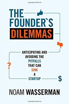 The Founder's Dilemmas book cover